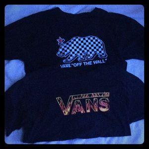 Vans of the wall  pair 2 shirts shortsleeve
